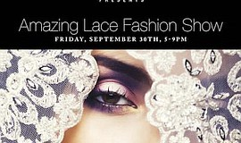 Promotional flier for the Amazing Lace Fashion and Food Extravaganza that wil...