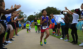 Participants run at the annual Trick or Trot 5K and 1 Mile Fun Run.