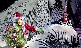 "Promotional photo of the show, featuring the Grinch and Max. ""Dr. Seuss' How ..."