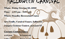 Promotional photo for Standley Parks & Recreation Center Halloween Carnival.