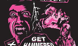A promotional graphic for the Get Hammered horror film series.