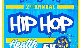 Promotional graphic for the Hip Hop Health And Wellness 5K.