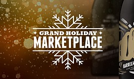 Promotional graphic for the Green Flash Grand Holiday Marketplace event.
