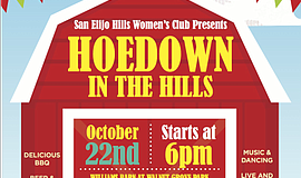 Promotional flyer for Howdown in the Hills.