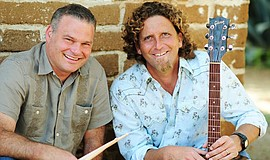 Promotional photo of members of Hullabaloo - Brendan Kremer and Steve Denyes