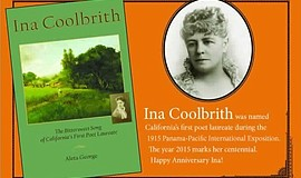 "Promotional graphic for the book, ""Ina Coolbrith: The Bittersweet Song of Cal..."
