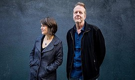 A photo of musicians Ingrid Laubrock and Tom Rainey, courtesy of Fresh Sound.