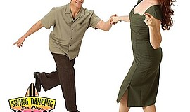 Promotional photo of swing dance instructors. Courtesy of Swing Dancing San D...