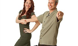 Promotional photo of Joel and Jackie Plys of 2PlySwing.
