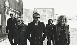 Promotional photo of Bon Jovi. Photo credit: Norman Jean Roy.