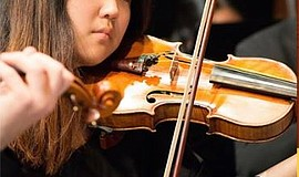 A NYO New Youth Orchestra program musician performs. Courtesy of San Diego Yo...