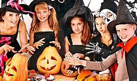 Promotional photo of trick-or-treaters for Grossmont Center's Spootacular.