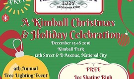 Promotional graphic for A Kimball Christmas And Holiday Celebration.