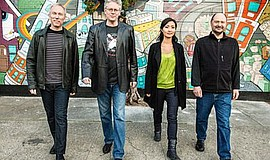 A promotional photo of Kronos Quartet, courtesy of La Jolla Music Society.
