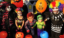 Trick-or-treaters in Little Italy. Courtesy of the Little Italy Association.