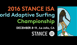 Promotional graphic for the 2016 ISA World Adaptive Surfing Championship.