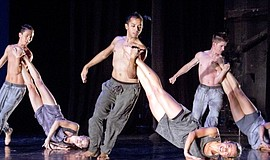 Promotional photo of a Malashock Dance performance.