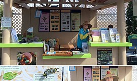Master Gardener booth at the San Diego County Fair.