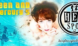 Promotional graphic for Maureen And The Mercury 5 At The Hep Spot.