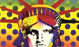 A photo of art by Peter Max.