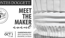 Promotional flier for Gardenology's Meet the Maker event.