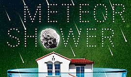 "A publicity poster for Steve Martin's ""Meteor Shower."""