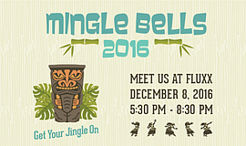 Promotional graphic for the 2016 Mingle Bells Mixer.