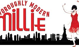 "Promotional graphic for Moonlight Youth Theatre's ""Thoroughly Modern Millie."""