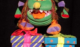 Promotional photo of a Marie Hitchcock Puppet Theater monster puppet.