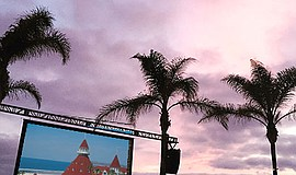 A photo of Hotel del Coronado's outdoor summer movie event.