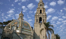 Photo of the exterior of the San Diego Museum of Man.