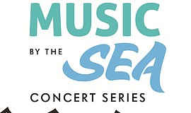 A poster for Encinitas' Music by the Sea Concert Series.