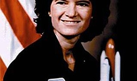 Promotional photo of astronaut Sally Ride. Photo credit: NASA. Courtesy of NASA.