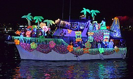 Promotional photo of a decorated vessel in last year's San Diego Bay Parade o...