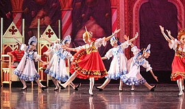 Ballerinas perform at 'The Nutcracker' Presented By Royal Academy Of Performi...