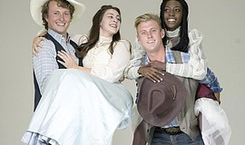 "A photo of the cast of ""Oklahoma!"" by Daren Scott."