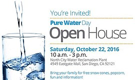 Promotional flier for the Pure Water Day Open House.
