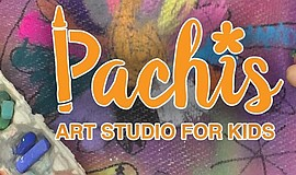 Promotional graphic for Pachis Kids Art Studio for Kids.