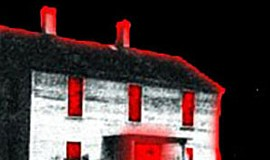 Promotional graphic of the Davis-Horton House. The Paranormal Investigation w...