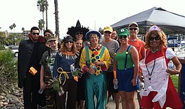 Participants at the Trek 'n' Treat Annual Walkathon. Courtesy of Community In...