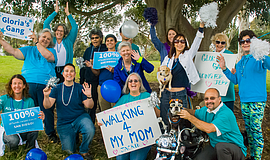 Promotional photo of participants at a Walk4Alz event.