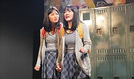 """A photo from Moxie Theatre's production of """"peerless."""""""