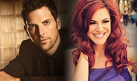 Promotional photos of Chris Mann and Shoshana Bean. They will perform a benef...