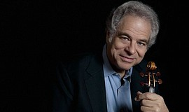 A promotional photo of violinist Itzhak Perlman, courtesy of the San Diego Sy...