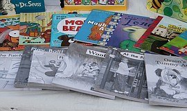 Photo of children's books. Courtesy of Pixabay.