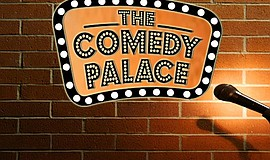 Promotional graphic for The Comedy Palace.