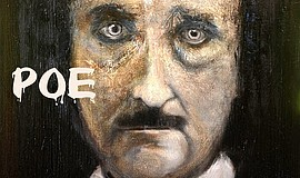 Artwork depicting Edgar Allen Poe. Courtesy of Ashton Gallery at Art On 30th.