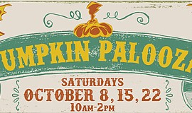 Promotional graphic for Pumpkin Palooza.
