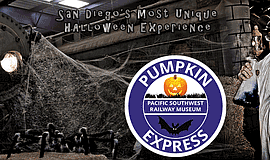 Promotional graphic for the Pumpkin Express.