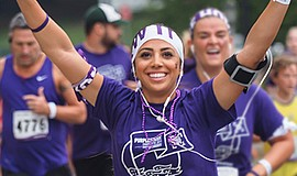 Promotional photo for PurpleStride San Diego 2016.